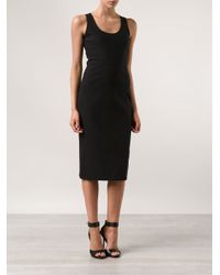The Row Black 'Meapa' Techno Scuba Dress