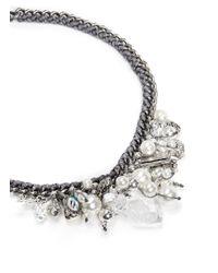 Venessa Arizaga Metallic 'ready To Party' Necklace