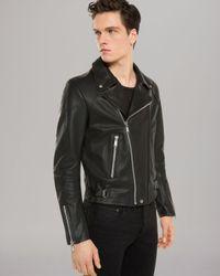 Sandro Black Norton Leather Jacket for men