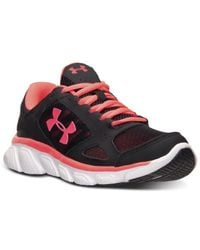 Under Armour | Black Women's Micro G Assert V Running Sneakers From Finish Line | Lyst