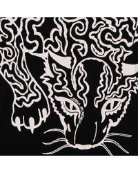 Stella McCartney Black Crouching Cat Print T-shirt