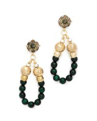 Holst + Lee | Green Emerald Valley Earrings - Gold/emerald | Lyst