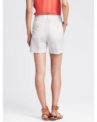 Banana Republic | White Belted Wide-leg Short | Lyst