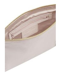 TOPSHOP Pink Leather Chain Crossbody Bag