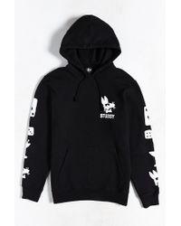 Stussy | Black Paid Rat Hoodie Sweatshirt for Men | Lyst