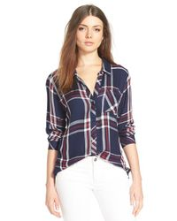 Rails - Red Plaid Shirt - Lyst