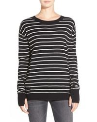Pam & Gela - Black Twisted Back Pullover - Lyst
