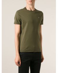 C P Company Green Crew-Neck T-Shirt for men