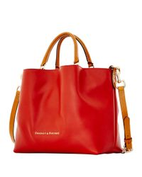 Dooney & Bourke | Orange City Large Leather Barlow Tote | Lyst