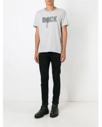 John Varvatos Gray Rock Print T-shirt for men
