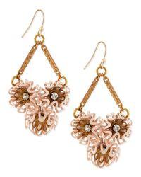 Lulu Frost | Pink Vivien Flower Cluster Earrings | Lyst
