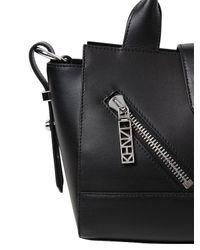 KENZO - Black Mini Kalifornia Smooth Leather Bag - Lyst
