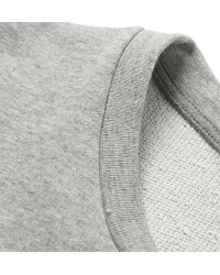 Marni Gray Bonded-Poplin And Cotton-Jersey T-Shirt for men