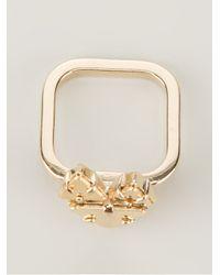 Sabrina Dehoff Metallic Fox Plates Ring