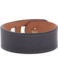 Valextra - Gray Grained Leather Bracelet for Men - Lyst