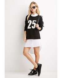 Forever 21 - Black 25 Graphic Loose-knit Sweater - Lyst