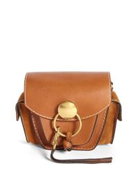 Chloé Brown 'small Jodie' Leather & Suede Camera Bag