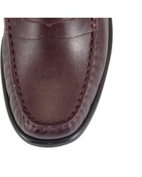 John Lewis Red Penny Leather Moccasins