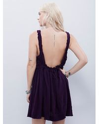 Free People - Purple Endless Summer Womens Miss Me Fit And Flare - Lyst