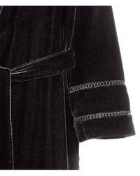 H&M Black Long Velvet Jacket