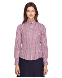 Brooks Brothers | Petite Non-iron Tailored Fit Ruffle Collar Dress Shirt | Lyst