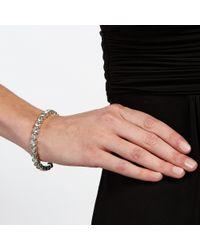 John Lewis - Metallic Single Row Diamante Cuff Bangle - Lyst