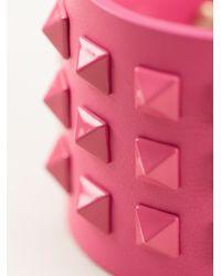 Valentino | Pink Rockstud Cuff | Lyst