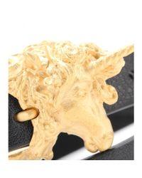 Valentino | Black Unicorn Leather Wrap Bracelet | Lyst