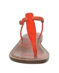 Sam Edelman | Orange Gigi Brahma T-strap Sandals | Lyst