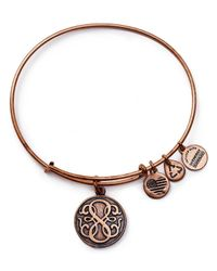 ALEX AND ANI | Pink Path Of Life Rose Gold Tone Wire Bangle - 100% Bloomingdale's Exclusive | Lyst