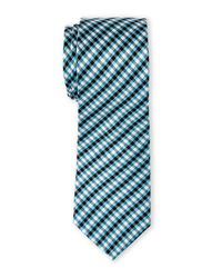 Pierre Cardin | Blue Small Check Slim Tie for Men | Lyst