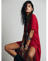 Free People Red Sunlit Gown Maxi