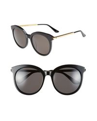 Gentle Monster | Black 56mm Round Sunglasses | Lyst