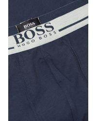 BOSS - Blue Cotton-blend Boxer Shorts: 'boxer 24 Logo' for Men - Lyst