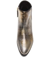 Giuseppe Zanotti Metallic Daddy Embossed Leather Ankle Booties