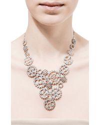 Wilfredo Rosado Metallic 18k White Gold Multi-cog Necklace