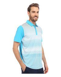 PUMA Blue Gt Brush Stripe Polo for men