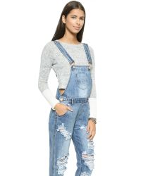 One Teaspoon Blue Ford Awesome Overalls - Ford