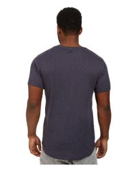 Timberland | Blue Weston Bonded Polka Knit Short Sleeve Crew With Scalloped Bottom for Men | Lyst