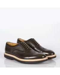 Paul Smith Natural Men's Khaki Calf Leather 'truman' Oxford Shoes for men