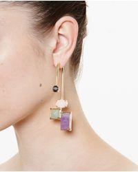 Volha | Purple Crystal Single Earring | Lyst