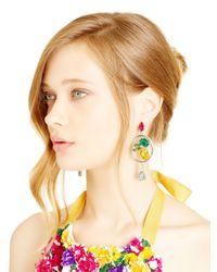 Oscar de la Renta - Multicolor Kelly Multi Crystal Drop Earrings - Lyst
