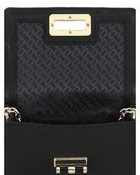 Diane von Furstenberg Black 440 Micro Mini Quilted Leather Bag