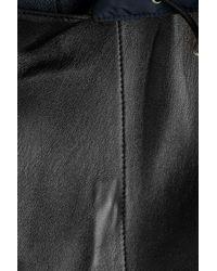 Jil Sander - Leather Jacket With Contrast Hood - Black for Men - Lyst