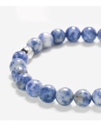 Cole Haan | Blue 8mm Bead Bracelet With Bead Closure | Lyst