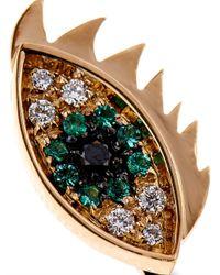 Delfina Delettrez | Metallic 'magic Triangle Piercing' Diamond Ring | Lyst