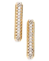 Rachel Zoe | Metallic 'stell' Pave Linear Drop Earrings | Lyst