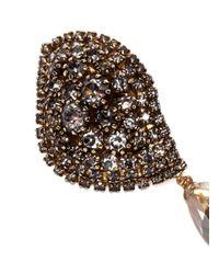 Erickson Beamon | Metallic 'hello Sweetie' Crystal Leaf Drop Earrings | Lyst