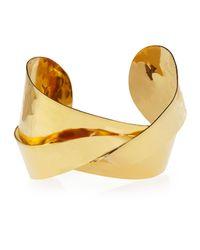 Devon Leigh Metallic 18k Gold-plated Twist Cuff