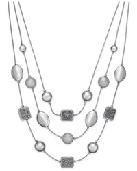 Style & Co. | Metallic Glitter Three-row Illusion Necklace | Lyst